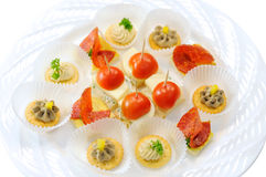 Canape plate Royalty Free Stock Photography