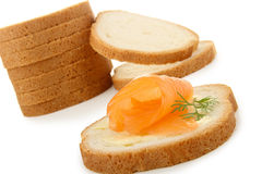 Canape of salmon Royalty Free Stock Photos