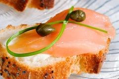 Canape Salmon Fotografia de Stock Royalty Free