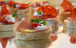 Canape sandwich Royalty Free Stock Photo