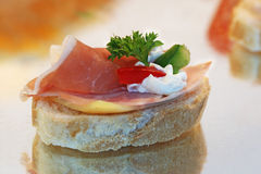 Canape sandwich Stock Photos
