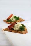 Canape saumoné images stock