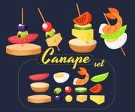 Canape Set Designer. Royalty Free Stock Image