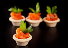 Canape with smoked salmon Stock Image