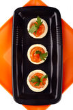 Canape with smoked salmon Royalty Free Stock Photography