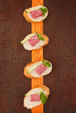 Canape snack. Royalty Free Stock Image
