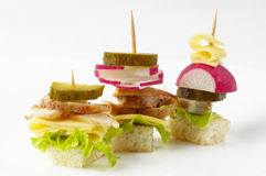 Canape snacks Stock Photo