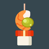 Canape snacks vector illustration. Stock Images