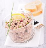 Canape with tuna cream Stock Photo