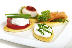Canape variation Royalty Free Stock Photo
