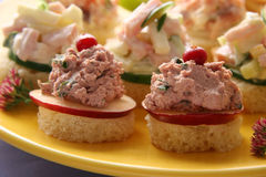Canapes. Royalty Free Stock Photography