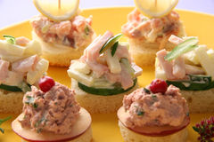 Canapes. Royalty Free Stock Images
