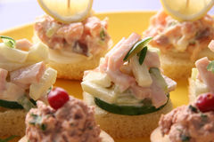 Canapes. Stock Afbeelding