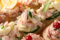 Canapes. Royalty Free Stock Image