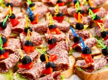 Canapes. Stock Images