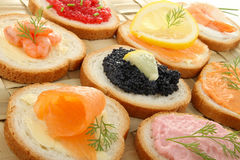 Canapes stockbild