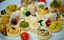 canapes Royaltyfria Foton
