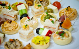 canapes royaltyfri foto