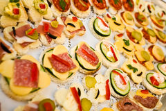 Canapes stockfotos