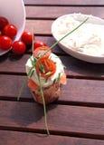 Canapes avec les saumons et le fromage Photographie stock libre de droits