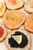 Canapes, buffet food Stock Photo