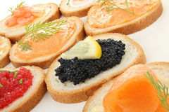 Canapes, buffet food Stock Image
