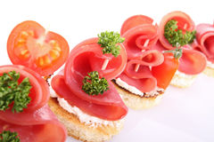 Canapes, buffet food Stock Images
