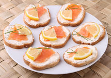 Canapes,buffet food Royalty Free Stock Images