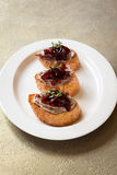 Canapes with chicken liver pate Royalty Free Stock Photography