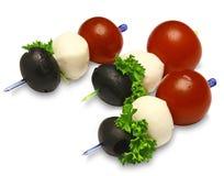 Canapes com tomates Fotografia de Stock Royalty Free
