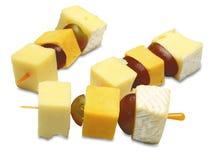 Canapes con queso Fotos de archivo