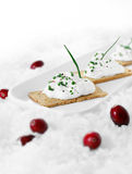 Canapes and cranberries Stock Photo