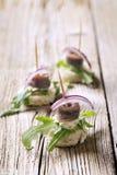 Canapes d'anchois photos stock