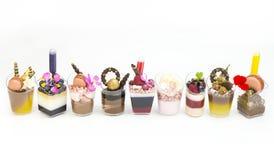 Canapes da sobremesa Imagens de Stock