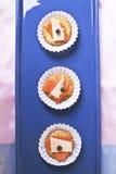 Canapes de saumons et de fromage Photos stock