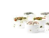 Canapes del caviar Fotografía de archivo