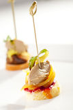 Canapes. Delicious Mushrooms Canapes. Selective Focus Royalty Free Stock Images