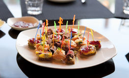Canapes in expensive restaurant Stock Photography