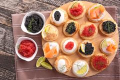Canapes, finger food Royalty Free Stock Image