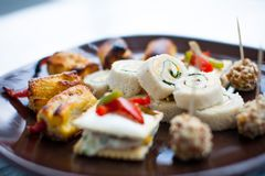 Canapes gourmet food VARIETY stock photography