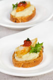 Canapes with hake. And potatoes mashed Royalty Free Stock Photo