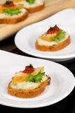Canapes with hake Stock Image
