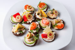 canapes mini Fotografia Royalty Free