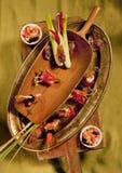 Canapes och tartlets arkivbild