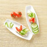 Canapes on plate. Royalty Free Stock Photography