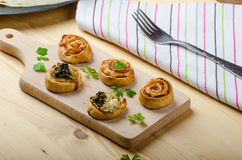 Canapes puff pastry Stock Photo