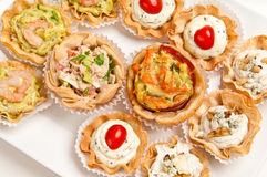 Canapes reaady to serve Stock Images