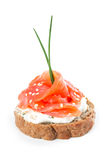 Canapes with salmon Royalty Free Stock Photos