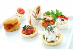Canapes selection Royalty Free Stock Photography