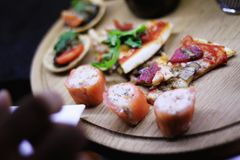 Canapes selection Royalty Free Stock Photo